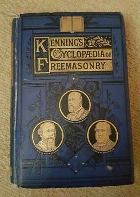 Very Rare Kennings Cyclopaedia Of Freemasonry 1878 In Very Good Condition