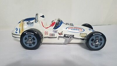 Ezra Brooks 1970  Speedway Race Car #21 Whiskey Decanter Nascar Liquor