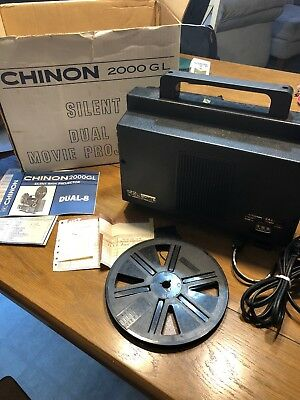 Chinon 2000GL Dual 8 Super Regular variable speed silent movie projector