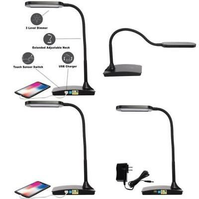 LED Lighting Ivy Office Computer Table Desk Lamp With USB Charging 4 Variations