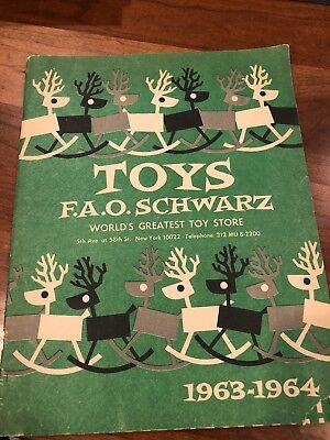 Vinrage 1963-64 FAO Schwarz Toy Catalog 31 Pages