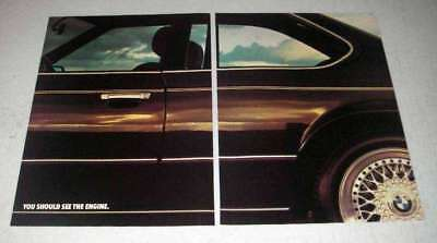 1986 BMW Car Ad - You Should See The Engine