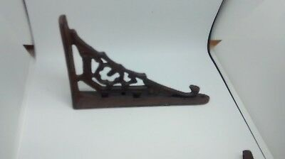 "4 Small Cast Iron Antique Style Art Deco Brackets 4 "" T X5 3/4""From wall."