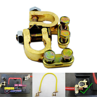 2X Auto Car Replacement Battery Terminal Clamp Clip Brass Connector LR