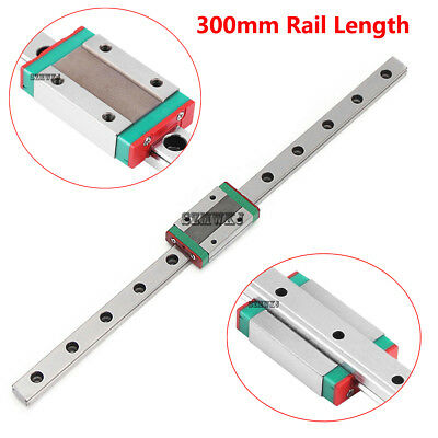 MGN12H 300mm Mini Linear Slide Rail Guide + Sliding Block for CNC 3D Printer DIY
