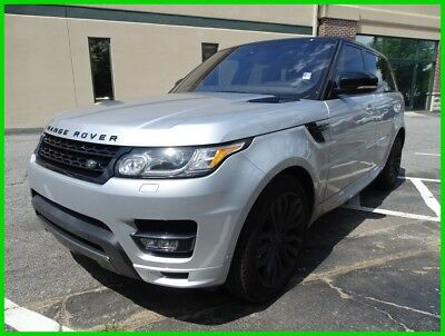 Land Rover Range Rover Sport RANGE ROVER SPORT HSE SUPERCHARGED SILVER 2017 LAND ROVER RANGE ROVER SPORT 3.0L V6 SUPERCHARGED ONE OWNER CLEAN CARFAX