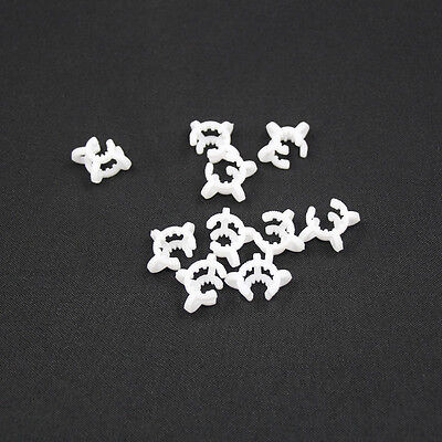 10pcs Plastic Keck Clips For Glassware with 10mm Color White