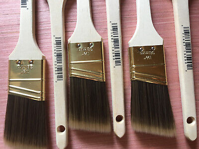 NEW! Set of 6 Wooster 1 1/2 inch 38 mm PAINT BRUSHES 0 71497 13590 2 (Nick)