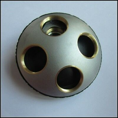 4 Hole Microscope Objective Nosepiece Metal Converter for Biological Microscope