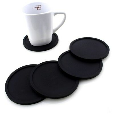 Non-Slip Silicone Mat Coaster Cup Pad Placemat Round Insulation Table Decor