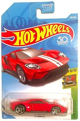 Hot Wheels  Ford Gt Red White New Exotics  Super Car Nightburnerz