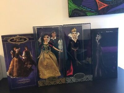 Limited Edition Disney Snow White Prince Charming And Evil Queen Dolls