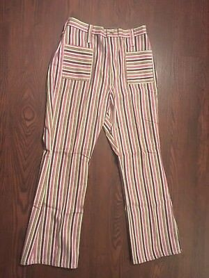 Vtg. BLUE BELL Maverick Hippie NOS with tag colorfull striped Bells 18 misses