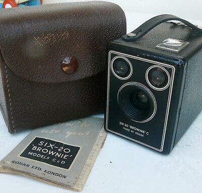Kodak Six-20 Brownie C Box Camera in Case