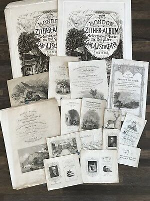 Antique Engravings - late 19th/early 20th century book title page samples