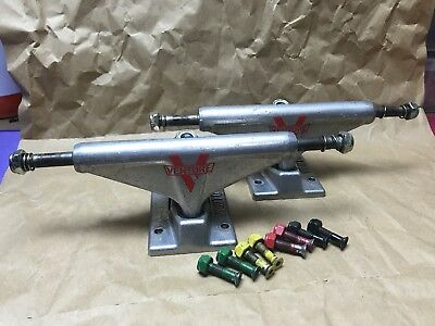 """VENTURE SKATEBOARD TRUCKS 7.75"""" Axle (size 129) Polished Hi with Nuts and Bolts"""