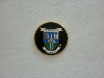 St Andrews Logo GOLF BALL MARKER OLD COURSE