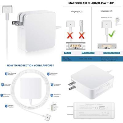 Macbook Air Charger, 45W Magsafe 2 Power Adapter Magnetic T-Tip Ac Charger For M