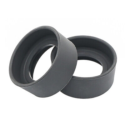 One Pair Eye Cups Foldable Rubber Eye Guards Caps f/ 34-38mm Microscope Eyepiece