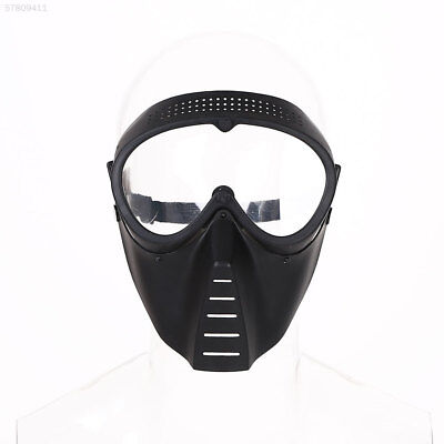 FF89 Protective Airsoft Paintball Game Tactical Full Face Black Clear Lens Mask