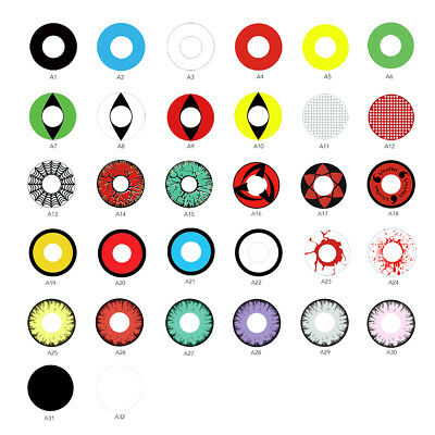 1Pair Halloween Cosplay Big Unisex Coloured Contact Lenses Eyes Makeup Con Clase