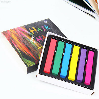 1705 6 Color Hair Pen Beauty Girl Metal Colored Pencils Dye Styling Makeup Tools