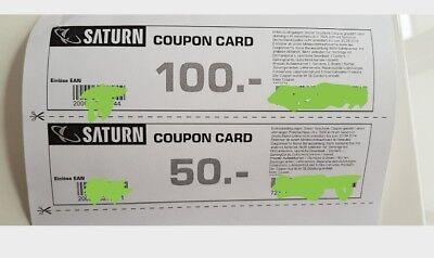 Saturn 150€ Coupon-card
