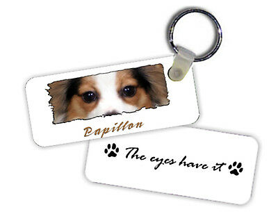 Papillon   The  Eyes Have It   Key  Chain