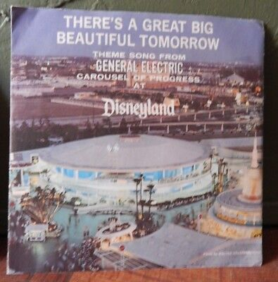 """Vintage 1968 Disneyland Record Of """"there's A Great Big Beautiful Tomorrow""""-Ge"""