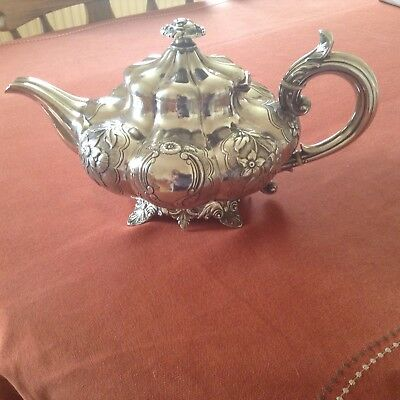 Solid silver Victorian teapot