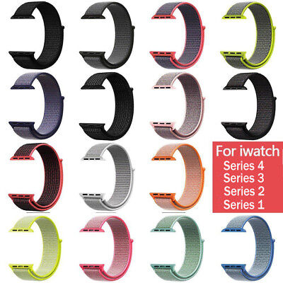 Fashion Woven Nylon Breathable Sport Loop Band for Apple Watch Series 4/3/2/1 US