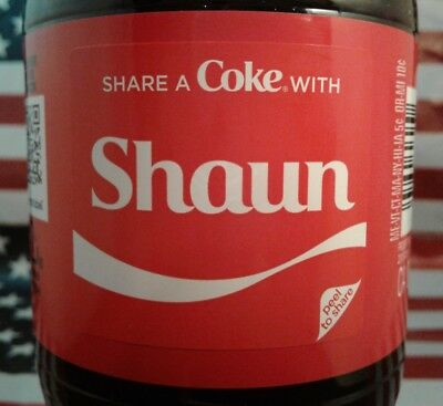 Share A Coke With Shaun 2018 Limited Edition Coca Cola Bottle