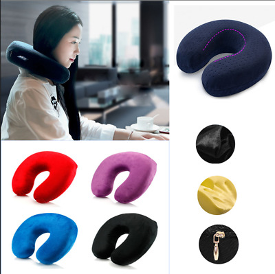 Soft Memory Foam U Shaped Travel Pillow Neck Support Rest Airplane/Car Cushion