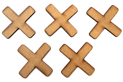 Wooden MDF Plus Sign Shapes or Multiply Craft Embellishments X xmas Decorations
