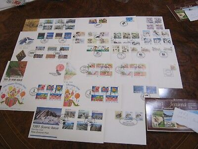 NEW ZEALAND First Day Covers FDC's. (21 Covers) 1990 & 1991 Ross Dep. Health etc
