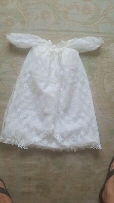 Vintage White Christening Gown
