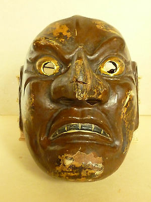 Japanese Noh Mask Taisho Period Antique  Circa 1912-1926