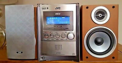 JVC UX-S57 Micro 5 CD Changer Audio System with remote control UXS57