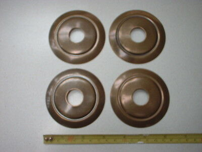 4 x 75 mm SPUN AGED BRASS TABLE LAMP PARTS / VASE CAP / SPACER / BACK PLATES