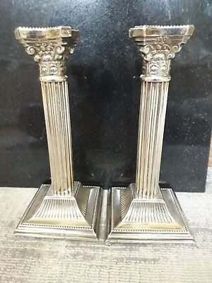 Corinthian Silver Plated Candle Sticks. Made in england. Fantastic condition.