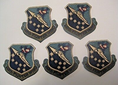 5 NOS U.S. MILITARY 148th FIGHTER WING NATIONAL GUARD DULUTH MINNESOTA PATCHES