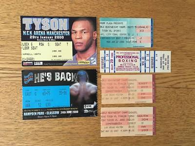 Mike Tyson. Selection Of Ticket Stubs.