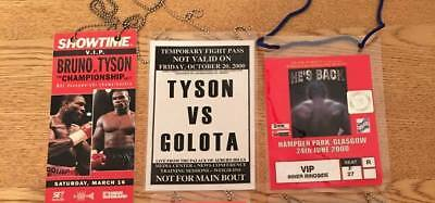 Mike Tyson  Selection Of Fight Night Passes