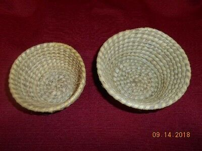 Two Native American Sweetgrass Baskets