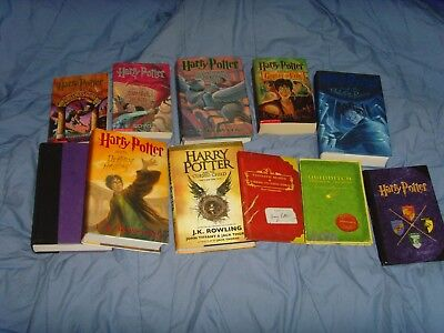 HARRY POTTER 12 BOOK complete SERIES SET LOT  FREE SHIPPING