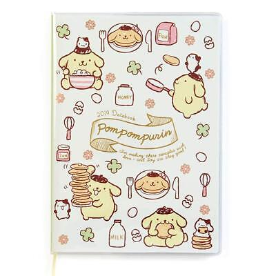 New Sanrio Pom Pom Purin Date Book with Sticker Schedule B6 size Diary 2019 F/S