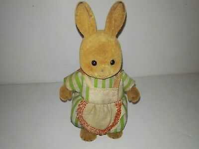 Forest Families Rabbit (doe)With apron  and dress  (Barenwald Sylvanian Families