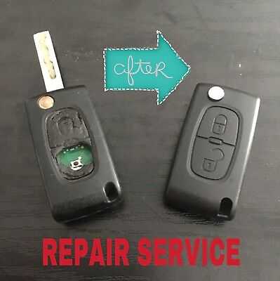 Repair Service - Peugeot Remote Flip Key Circuit Board 406 407 408 307 107 207