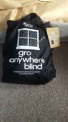 Gro Anywhere Blind. Portable black out blind. Max 200  x 135 cm