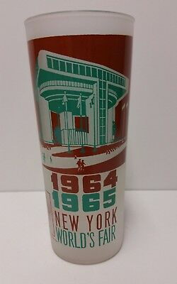 Vintage New York World's Frosted Glass 1964-1965 Port Authority Building